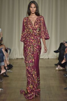 MarchesaLondon Fashion Week  Spring Summer 15 London September - the only Marchesa that wasn't silly.