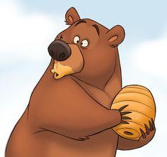 A lot of stereotypes here. Fox Art, Bear Art, Cute Bear Drawings, Animal Drawings, Bear Illustration, Character Illustration, Bear Character, Character Design, Cartoon Sketches