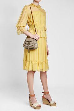 See by Chloe Silk Chiffon Dress Silk Chiffon, Chiffon Dress, Yellow Fashion, See By Chloe, Yellow Style, Summer Dresses, Shopping, Women, Clothing