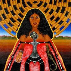 image from Robyn Kahukiwa, a favourite painter of mine. In Maori mythos, Ranginui (the sky father) Polynesian People, New Zealand Art, Esoteric Art, Nz Art, Maori Art, Castle In The Sky, Cultural Identity, Indigenous Art, Fantasy