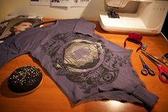 OutsaPop tutorial t-shirt bodysuit STEP 8