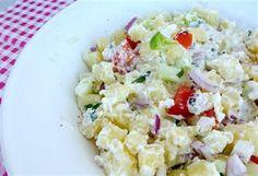 Mediterraanse aardappelsalade. Heerlijk zomers bijgerecht voor bij de BBQ
