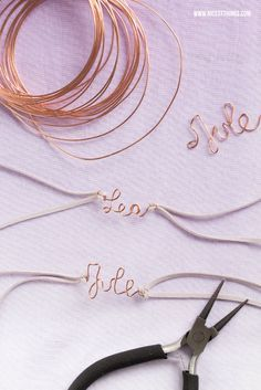 DIY Copper Wire Friendship Name Bracelets