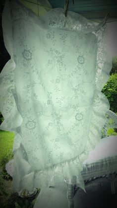 Lace ruffled Sham 1 by MyShabbyValentine on Etsy, $8.00