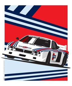 Lancia Beta Montecarlo Art Print by Ricardo Santos | Society6