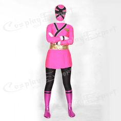 Free Shipping DHL 5 Colors Lycra Spandex Multicolor Shinkenger Power Rangers Super Hero Zentai Suit Party Cosplay TM130-in Costumes from App...