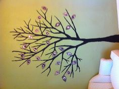 Find your favorite tree outline, project it on a wall, paint, cut out leaves from wallpaper samples and fill with your favorite family photos! Family Tree Mural, Tree Wall Painting, Tree Outline, Wallpaper Samples, Paint Chips, Tree Murals, Something To Do, Finding Yourself, Mural Ideas