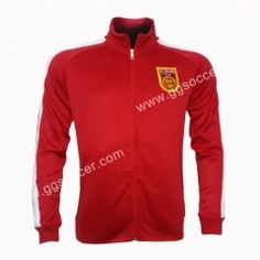 2015-16 China Home Red Thailand Soccer Jacket