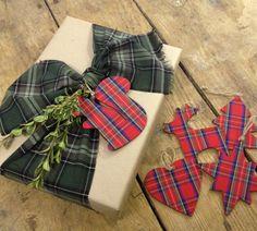 Love the Tartan!  Christmas Wrapping Ideas | @House & Home @Margot Austin