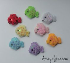 Sequins Fish Hair Clips { Amaya Jane Accessories }