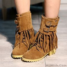 Wow~ Awesome Martin Boots Multi Style Tassel Hasp Flat Tie Shoelaces Fashion Snow Boots ! It only $57.99 at www.AtWish.com! I like it so much<3<3!