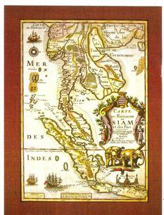 Carte du Royaume de Siam http://islandinfokohsamui.com/