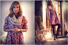 Floral summer dress in winter. Kalastajan vaimo - ME NAISET