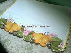 Resultado de imagem para frutas pintadas em panos de prato