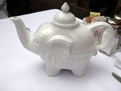 White Elephant Tea Pot