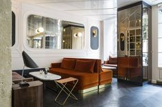 Inside the Hotel Panache, Paris: The waiting area of reception.