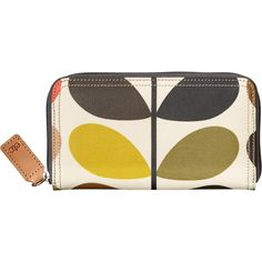Orla Kiely Etc Classic Multi Stem Zip Purse ($93) ❤ liked on Polyvore featuring bags, navy blue bags, laminated bags, lining bag, rucksack bags and print backpacks