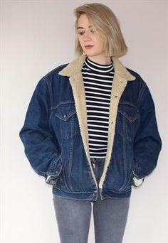 Vintage+Oversized+Levi's+Sherpa+Jacket