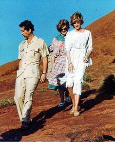 Prince Charles and Princess Diana visit Uluru (Ayers Rock) in March 1983