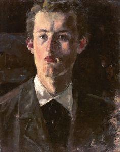 "urgetocreate: ""Edvard Munch, Self Portrait, 1882-83 """