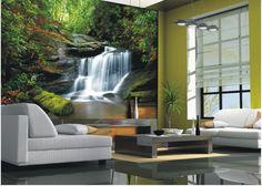 Fototapete Tapete Wasserfall Fluss Dschungel Foto 360 cm x 254 cm