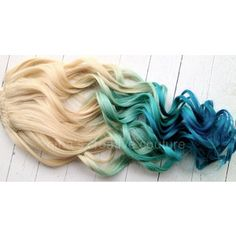 reverse ombre blonde to teal - Google Search