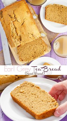 Earl Grey Tea Bread (Sweet Bread) - The Cookie Writer - Dessert Bread Recipes Bread Maker Recipes, Quick Bread Recipes, Sweet Recipes, Cake Recipes, Dessert Recipes, Recipes Dinner, Potato Recipes, Casserole Recipes, Pasta Recipes