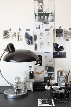 Vosgesparis: Creative spaces & Clipboard inspiration. I love the lamp!!