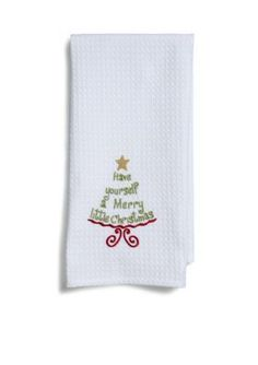 CF  Have Yourself a Merry Little Christmas Kitchen Towel