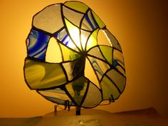 Cobweb Inspired Glass Lamp