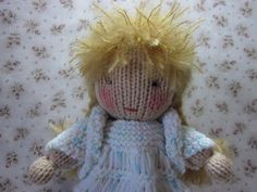 Please meet Virginia; a knit Waldorf style doll created as a commission. Description from byhookbyhand.blogspot.com. I searched for this on bing.com/images