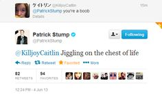 Patrick Stump, everybody!