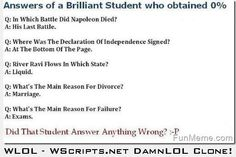 Brilliant Student Fails Test…
