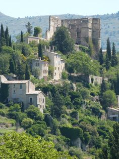 #MostBeautifulVillages: The high set houses of Montbrun-les-Bains overlook fragrant lavender fields. The narrow streets lead from one fountain to the next, sourced by an ancient spring that is said to have beneficial effects.