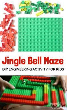 Lego Activities, Steam Activities, Christmas Activities For Kids, Christmas Themes, Simple Christmas, Kids Christmas, Christmas Bells, Family Holiday, Christmas Crafts