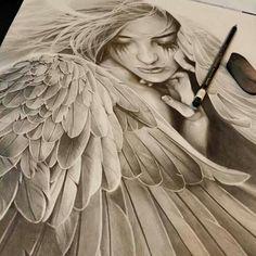 Resultado de imagem para wings tattoo draw