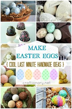Make handmade Easter eggs. Craft Easter eggs for last minute decorations. Use dy. - holiday decorating - Make handmade Easter eggs. Craft Easter eggs for last minute decorations. Use dye Easter eggs and d - Making Easter Eggs, Easter Egg Dye, Easter Egg Crafts, Hoppy Easter, Easter Party, Easter Table, Easter Decor, Easter Bunny, Easter Celebration