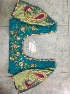 Sudhasri he may wardrobe Best Blouse Designs, Half Saree Designs, Simple Blouse Designs, Silk Saree Blouse Designs, Blouse Neck Designs, Simple Embroidery Designs, Maggam Work Designs, Maggam Works, Designer Blouse Patterns