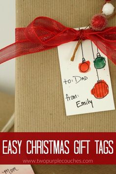 Make these easy watercolor Christmas gift tags in minutes! They're simple to make yet so pretty they look like they came from a fancy stationary store!