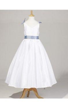 Lovely Sleeveless Taffeta Wedding/Party Flower Girl Dress