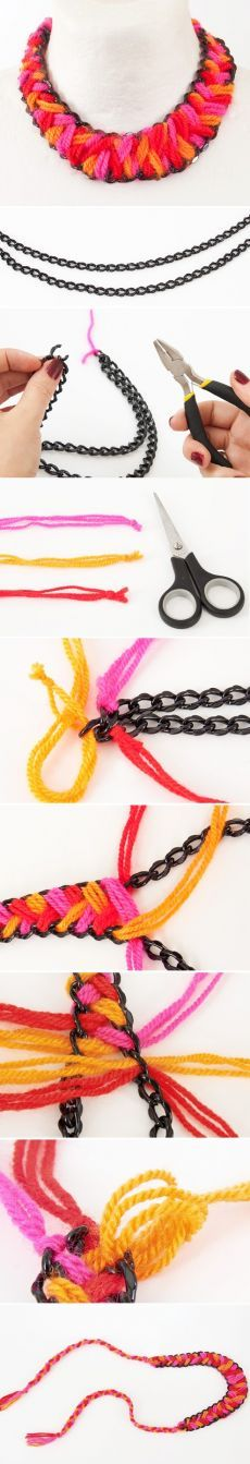 (126) Wool Necklace Tutorial | Diy: Jewelry | Necklace Tutorial, Wool and Necklaces