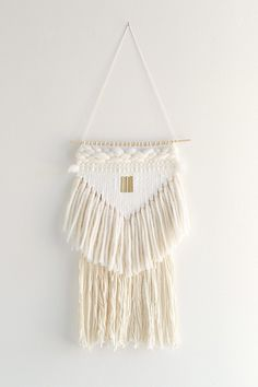 HAZEL & HUNTER White Triangle Wall Hanging - Urban Outfitters