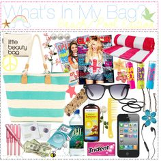"""""""What's in my bag? * BEACH & POOL"""" by the-polyvore-tipgirls on Polyvore"""