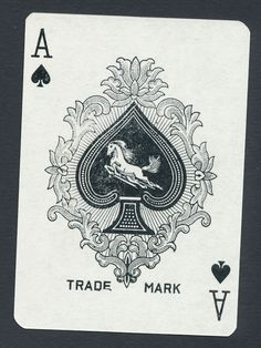 red design from 721 Flying Horse playing card single swap ace of spades - 1 card