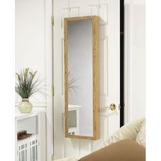 Mirrotek Over the door jewelry Armoire Mirror in Oak | Wayfair