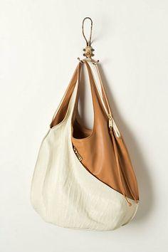 Asymmetrical pocket bag from Anthropologie.