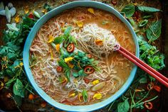 Spicy Thai Curry Noodle Soup - Heather Christo