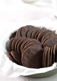Thin & crispy gluten free chocolate wafer cookies are rich, chocolatey & perfect for making no-bake warm weather treats like icebox cakes to cookie crusts.