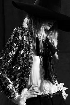 Julia Nobis by Hedi Slimane for Saint Laurent Spring/Summer 2013 _