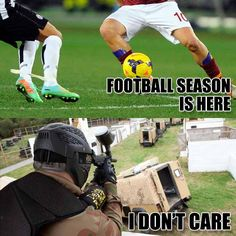 Football season? Who cares! We have paintball season all year round! #paintball #sports